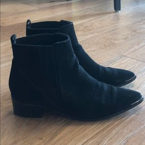 Marc Fisher Yale Chelsea Suede Leather Boots